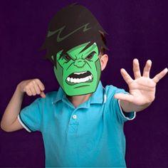 Máscara de Hulk para imprimir gratis.