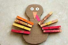 Toddler Fine Motor Turkey Craft
