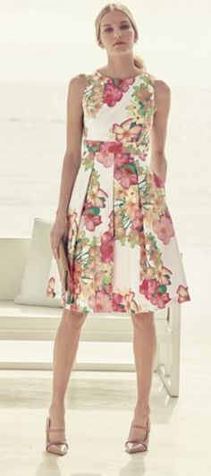 Gorgeous floral fit & flare dress