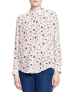 THE KOOPLES Floral Print Silk Shirt. #thekooples #cloth #shirt