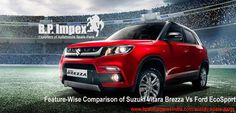 Feature-Wise Comparison of Suzuki Vitara Brezza Vs Ford EcoSport  | Vitara Brezza is the newest car from the giant auto manufacturer, Suzuki. Here's a quick take on how it competes with its prime rival, the Ford Ecosport.   https://goo.gl/nNh9zO