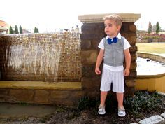 cute blue button bow tie for little boys! perfect for an Easter outfit!