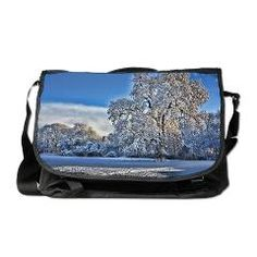 Winter Snow on the Trull Meadows OakMessenger Bag > Winter Snow Scenes and Christmas Cheer > Rosemariesw Design Photo Gifts