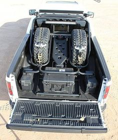 When I picked up my new 2013 I decided I wouldn't run the tiregate I had on my It left me with a problem, The rack I had was set up for a tiregate. Overland Gear, Overland Truck, Lifted Ford Trucks, Pickup Trucks, Pilot Car, Expedition Trailer, Truck Mods, Truck Interior, Truck Design