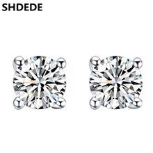 f30c1f504 AAA crystal earring Real Pure 925 Sterling Silver stud earrings for women  Jewelry