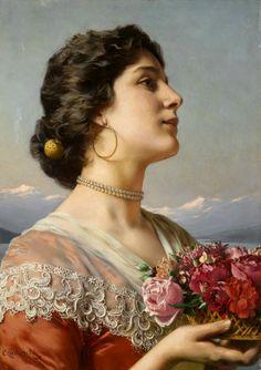 Ladislas Wladislaw von Czachorski (1850-1911) .@@@@......http://www.pinterest.com/caroleminiature/histoire-de-femmes/