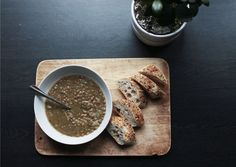 Caramelised onion and lentil soup! One of my favourite fall soups, so warming and filing!