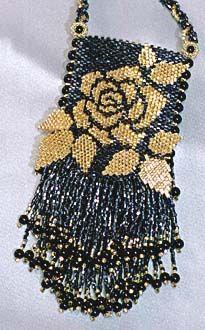 amulet bags | Gold Rose Amulet Bag