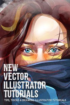 27 New Vector Illustrator Tutorials to Learn Design & Illustration Techniques #digitalillustration #illustrationart #vectortutorials #vectorgraphics