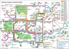 Official Map: Key Bus Routes in Central London This charming diagram produced by Transport for London is obviously targeted at tourists, but still manages to pack a lot of information in - bus routes,...