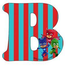 Hermoso Abecedario de los Héroes en Pijamas, o Pj Masks, como más te guste llamarlo. Todas las letras que contienen aCatboy, Gekko y Owlette se encuentran subidas al sitio en perfecta calidad de i… Birthday Letters, 2nd Birthday, Happy Birthday, Birthday Ideas, Festa Pj Masks, Mask Party, Peppa Pig, Banner, Lettering