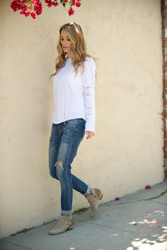 ANINE BING boyfriend jeans and whites, my favorite right now