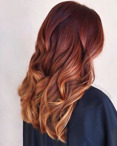 fall inspired color melt red ombr red violet undertone