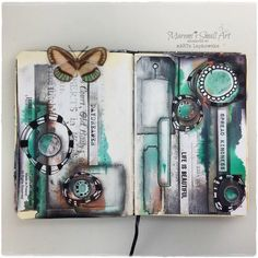Marta Lapkowska: Junk Journal Tutorial + journal spreads