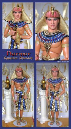 ken repainted to be the pharaoh narmer