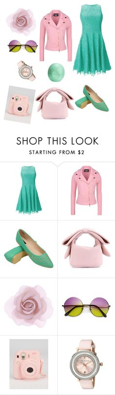 """""""it's pink mint"""" by annijam ❤ liked on Polyvore featuring Shoshanna, Boutique Moschino, Simone Rocha, Accessorize, Fujifilm, Ted Baker and Eos"""