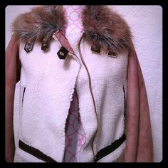 Very cool jacket Faux sued and fur. Very cool details on this jacket that can be dressed up or with jeans. Two side pockets, and has a zipper in the front. Forever 21 Jackets & Coats