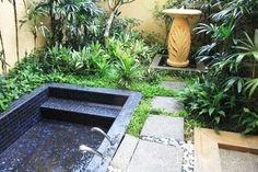 outdoor living spaces, home spa design and decorating