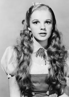 An early wardrobe/hair test of Judy Garland for Wizard of Oz (1939)