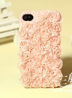 Aliexpress.com : Buy 1PCS Luxury 3D cute handmade pink cloth rose Pearls Moblie Phone Case brand  new arrival For iphone 4/4s/5  from Reliable cell phone case 3d suppliers on Elina's Shop $6.99