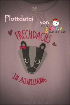 """Freebie """"Frechdachs"""" - kleine göhr.e design Silhouette Cameo, Freebies, Brother, T Shirt, Design, Graphics, Stencils, Bricolage, Gift"""