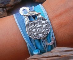 Beach Chic Jewelry, Cool Silk Wrap Bracelet by HappyGoLicky. Just CLICK pic to see more now.