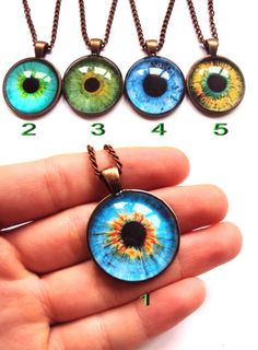 Realistic evil eye necklace or ring: only 2nd by SomeBijoux4You