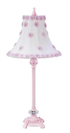Medium Scroll Lamp with Petal Flower Shade