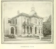 Centennial Club in Nashville. Image from - Clarke, Ida C. G. All About Nashville: A Complete Historical Guide Book to the City. Nashville, Tenn: Marshall & Bruce Co, 1912.