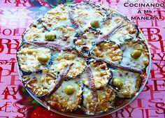 pastel-berenjenas y atún con anchoas