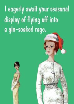 Gin-Soaked Rage   Funny Christmas Card  £2.99