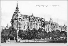 """""""Грефе унд Унцер"""" Дом книги. Кёнигсберг, Парадеплатц, 6 напротив Униврситета. Крупнейший книжный магазин в Германии (4 этажа), одна из достопримечательностей Кёнигсберга."""