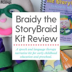 Braidy the StoryBraid kit Preschool Speech Therapy, Speech Therapy Games, Speech Language Pathology, Speech And Language, Articulation Activities, Speech Therapy Activities, Story Retell, Special Needs Students, Special Education Teacher