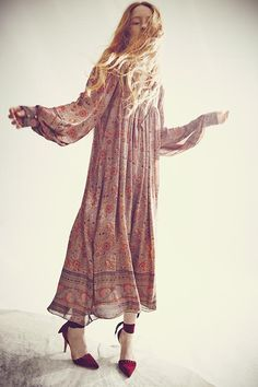 Ulla Johnson Fall 2015 Collection - Talitha Dress with Sienna Heel