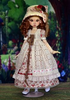 """""""Walk in the Gardens"""" Dress Outfit Clothes for 18"""" MSD Kaye Wiggs BJD Liz Frost #LuminariaDesigns"""