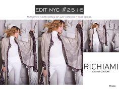 #richiamiscarves waits for you @edit_shows #jacobjavitscenter #nyc STAND 2516  #scarves #madeinitaly #cashmere #silk #socool #fashiondays #fashionworld #fashionweek #fashiongram #instafashion #instastyle #fashionpost #nycfashion #accessories February 27-March 1