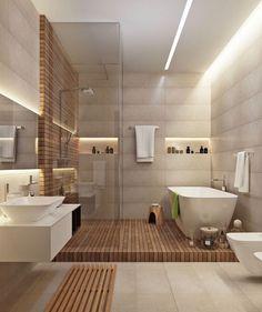 Отличная идея оформления ванной ☺️‼️ всегда приятно стоять ножками на натуральном дереве  #ядизайн #ванна #ваннаякомната #интерьер #школадизайна #дерево #дизайндома #душ #уют