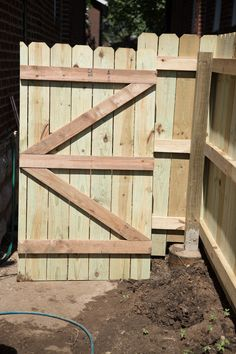 Privacy Fence   Building a Gate