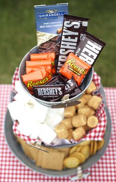 Easy Gourmet S'mores - in your backyard on the grill or using the microwave! Yum! www.sisterssuitcaseblog.com