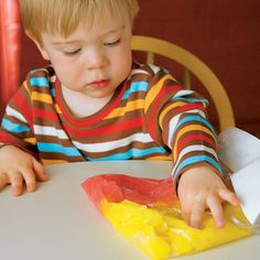 "Color in a Bag activity    ""For the youngest kids, art is really about the tactility of the materials, what they feel like"""