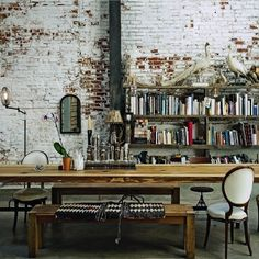 Living etc Dining room in Converted Warehouse