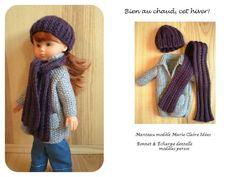 Tuto poupée Chérie Manteau Bonnet écharpe Bien au chaud, cet hiver!