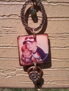 Personalized photo necklace 2sided pendant by Edgeofmarshcreations, $30.00