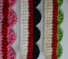 59 Free Crochet Patterns for Edgings, Trims, and Blanket Borders: 2. NEW! Edgings in Shell Stitch
