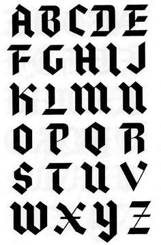 Search Midcentury, Modern, and Lettering images on Designspiration Gothic Lettering, Gothic Fonts, Tattoo Lettering Fonts, Hand Lettering Alphabet, Font Art, Types Of Lettering, Lettering Styles, Graffiti Lettering, Calligraphy Fonts