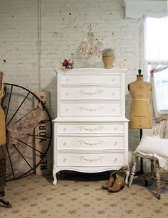 Painted Cottage Shabby White Romance Dresser by paintedcottages, $595.00