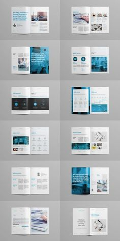 Explore more than ready to use brochure design templates for pamphlets, proposals, reports, and manuals in a variety of styles. Brochure Indesign, Template Brochure, Brochure Layout, Free Brochure, Product Brochure, Graphic Design Brochure, Corporate Brochure Design, Checklist Template, Presentation Layout