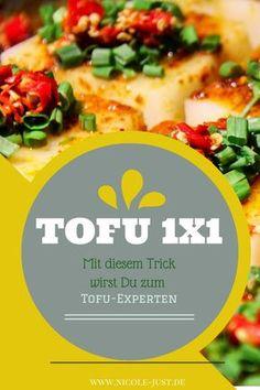 Rezept und Anleitung zum Tofu marinieren mit einem simplen aber eindrucksvollen Trick. Dazu gibt es in diesem Tofu 1x1 eine Warenkunde und Anwendungstipps für die einzelnen Tofusorten Naturtofu, Räuchertofu und Seidentofu. Zur Tofu Anleitung: http://www.nicole-just.de/4207-wie-bereitet-man-tofu-richtig-lecker-zu.html