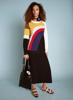 Sonia Rykiel Resort 2018 Fashion Show Collection Couture Outfits, Couture Fashion, Fashion Outfits, Couture Style, Fashion Glamour, Fashion 2018, Fashion Week, Fashion Brands, Sonia Rykiel