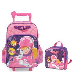 79df8b7f1 Kit Infantil Mochila de Rodinhas e Lancheira Luxcel Penelope Pitstop Rosa